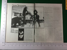Gene Simmons Kiss magazine article / feature - late 1978