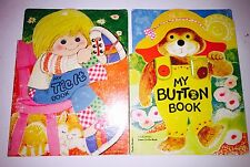 My Tie-it Book / My Button Book - Learn To Do, Vintage Children's Books Lot 1975