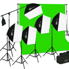 Chroma Key Green Screen Studio  Softbox  Light Kit For Photography And Video