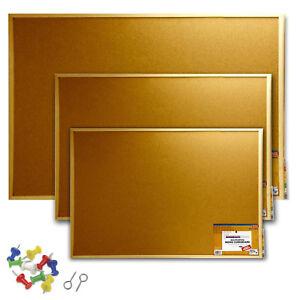 Cork Board Pin Message Notice Board Wooden Frame Office Memo School Pinboard
