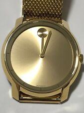 MOVADO Bold Gold Dial Gold-tone Mesh Men's Watch Item No. 3600373