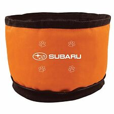 Subaru Folding Zipper Travel Hiking Camping Dog Cat Pet Food Water Bowls Dishes