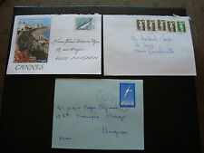 FRANCE - 3 enveloppes 1991 1991 ? (cy34) french