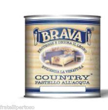 """VERNICE ALL'ACQUA PER LEGNO """"SALVIA""""  DECAPE' """"BRAVA"""" COUNTRY 750ML"""