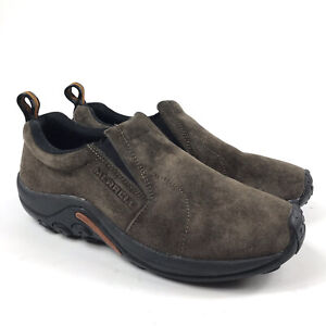 Merrell Men's Jungle Moc Slip-On Shoes Brown Gunsmoke US 10.5 EUC 60878 Casual