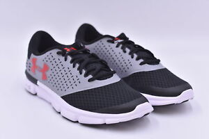 Men's Under Armour Micro G Speed Swift 2 Running Sneakers, Grey / Red, 7W (2E)