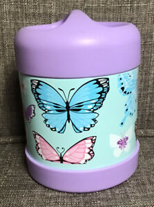 Pottery Barn Kids Purple Butterfly Hot Cold Lunch Food Container 10 Oz.