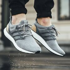 Adidas Ultra Boost 3.0 UK 8 LTD de Lujo Pack Gamuza Cuero Gris BB1092