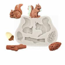 Squirrel Nut Silicone Fondant Mould Cake Decorating Sugar Topper Chocolate Mold