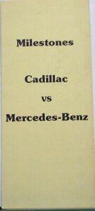 1977 Cadillac Vs Mercedez Benz Milestones Sales Brochure Folder Original