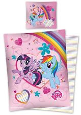 MY LITTLE PONY 11 Single Bed Duvet Cover Set 100% COTTON plus free cushion cover