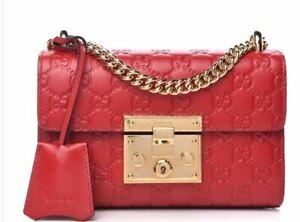 Gucci padlock GG shoulder bag small
