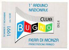 GIANNI BUGNO CLUB BUGNO 1 RADUNO NAZIONALE MONZA 1991 CICLISMO CYCLISME CYCLING