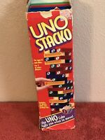UNO Stacko Plastic 9003 Block tower family game by Mattel 1994 No Dice
