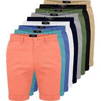 Mens Chino Shorts Casual Fine Twill Cotton Cargo Combat Half Pant Summer New