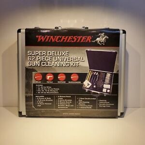 Winchester 62 Piece Super Deluxe Universal Gun Cleaning Kit In Aluminum Case