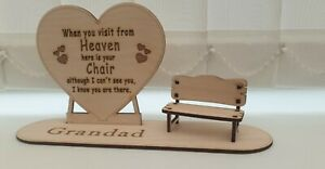 Love heart Personalised Gift  laser cut with name on base