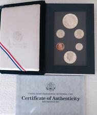 United States Mint 1990 Prestige Set Eisenhower Centennial Silver Dollar Coin