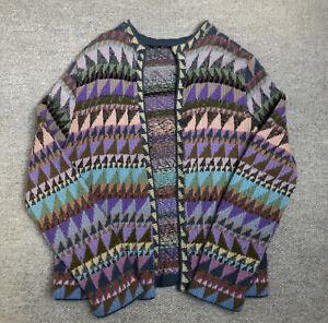 Kaffe Fassett vintage hand knitted super triangles open cardigan