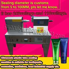 Ultrasonic Plastic Tube sealer Sealing Machine with cutting printing