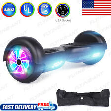"""Black Hoverboards Ul2272 Certified 6.5"""" Self Balancing Electric Scooter With Bag"""