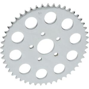 Drag Chrome 46 th Tooth Flat Rear Wheel Sprocket for 530 Chain 86-99 Harley