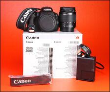 Cámara SLR Canon 200D D + Canon EF-S 18-55mm Lente Kit-sólo 811 III fotos tomadas