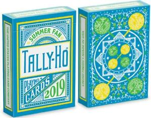 Tally-Ho Summer Fan Limited Edition 2019 Playing Cards Cardistry Deck