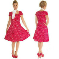 POLKA DOT SWING DRESS by DOLLY & DOTTY  50's VINTAGE ROCKABILLY RETRO SIZE 8