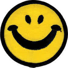 6255 Smiley Happy Face Smiling Hippie Retro 60s Embroidered Sew Iron On Patch