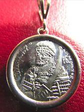 Last Roman Emperor Constantine PALEOLOGOS Solid Silver Byzantine icon pendant