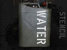 stencil pochoir jerrycan jerrican water eau 12 us jeep WILLYS GPW WW2