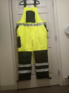 Majestic HI Visibility Waterproof Bib Overalls With Quilted Insulation  2X