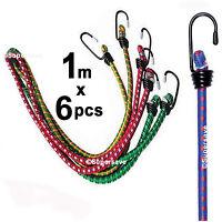3pcs x 1m Bungee strap Elastic luggage golf rope cord hooks stretch tie car bike