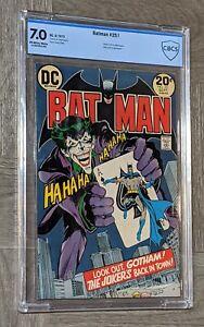 Batman #251 CBCS 7.0 DC Comics 1973 Neal Adams Joker Cover Not CGC