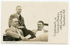 Rppc Ny Rochester Photo Co. Charles Lindbergh Henry Ford + Monroe County