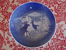 B&G Bing & Grondahl Copenhagen Porcelain Plate Jule After 1980 Christmas in Wood