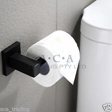 ACA Matt Black Toilet Paper Roll Holder Rack Hook Stainless Steel WALL MOUNTED