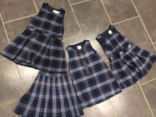 Lands End plaid jumper and skirts Lot