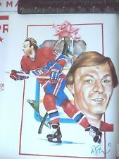 GUY LAFLEUR MONTREAL CANADIENS MAGAZINE CUTOUT THICK PICTURE COOL FOR FRAMING