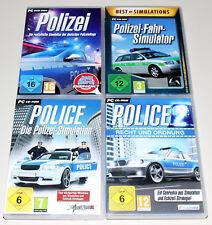 4 pc jeux collection police Simulation 1 2 droit de l'ordre police Fahr Simulateur