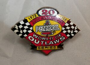 1998 World of Outlaws Pennzoil Pin  winged dirt track Sprint Car racing