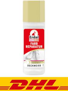 Erdal Recolor Farbreparatur Deckweiss 75ml Schuhcreme Schuhweiß Weiß Schuhe