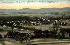 Bad Oeynhausen Ravensberger Mulde 1906 Panorama gelaufen nach Hamburg Falkenried