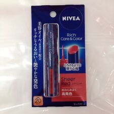 Nivea Rich Care & Color Sheer Red Lip Stick Balm unscented 2g from Japan