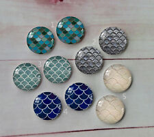 Handmade  Round Glass Cabochon Dome Flat Back Cover 10PCS 12mm A182