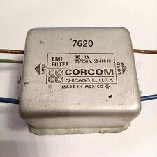 CORCOM USA 1r3 1a filtro EMI 7620/115/250v 50-400hz/MADE IN MEXICO