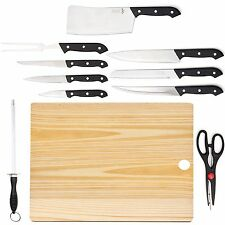 Home Kitchen Cutlery by HULLR with Chef Knife Set and Wooden Cutting Board (1...