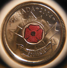 2004 POPPY 25 cents ** FROM MINT ROLL