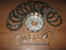 87 HONDA CR125R CR 125 R CLUTCH BASKET PUSH ROD PLATES DISKS AND HARDWARE